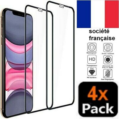 Vitre Iphone 11 X Xs Xr Pro Max 7 6S 6 8 Plus Verre Trempe Integrale Film Ecran