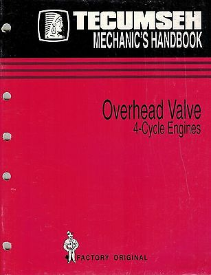 "Tecumseh 4-Cycle  Engine  Overhead Valve Mechanics Handbook Shop Manual ""New"""