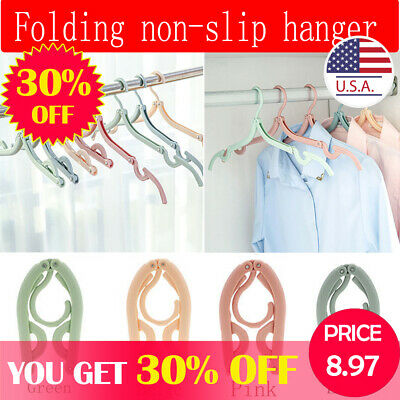 Folding Hanger Anti-skid Foldable Portable Hanging For Rack Air Wet Dry Clothes