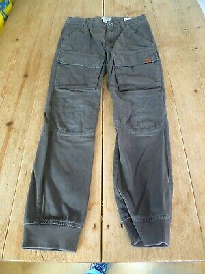 Fabulous TIMBERLAND Washed Khaki Green Chino Fit Cargo Biker JEANS, 150, 12 yrs