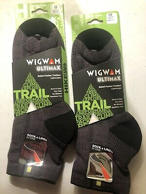 2 Pairs of Wigwam Rebel Fusion Quarter II Socks  Large