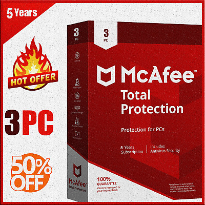 McAfee Total Protection 2020 Antivirus 🔥 3 Device 5 Year🔥Fast Delivery 📥