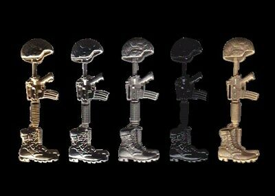 Fallen Soldier Field Cross Marines Military Army Jacket Backpack Purse Bag Vest Zipper Pull Clip