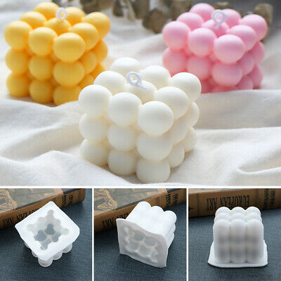DIY Cube Silicone Soap Candle Mold 3D Handmade Craft Clay Tools Wedding Supplies