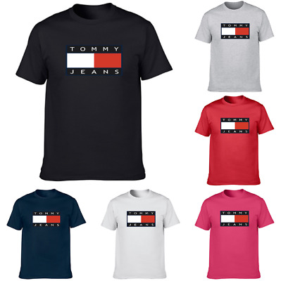 Tommy Hilfiger Mens Womens Short Sleeve Crew Neck T-shirts Tops XS - XXXL AU
