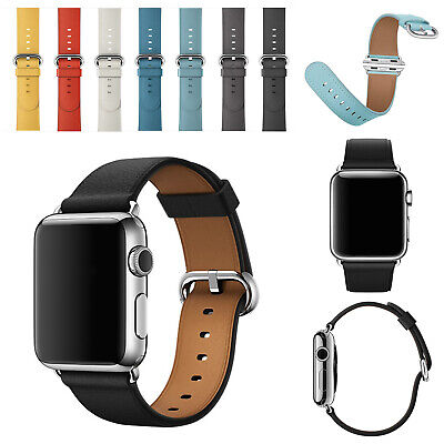 for Apple Watch Band 38-44mm Wristband Series 5 4 3 Genuine Leather Strap Iwatch