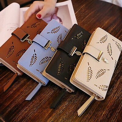 Women Lady Clutch Leather Wallet Long Card Holder Phone Case Purse Handbag AU