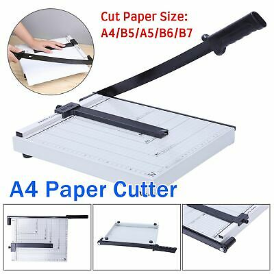 Heavy Duty Professional A4 Paper Guillotine Cutter Trimmer Machine Home Office U