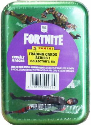 Fortnite Trading Cards Game Series 1 Collector's Tin + 4 Packs = Panini Epic