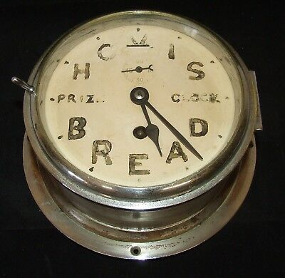 # Ship Style Chrome HOVIS BREAD PRIZE CLOCK Advertising Clock BRAVINGTONS LONDON
