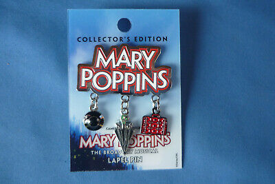 MARY POPPINS  Disney Pin The BROADWAY MUSICAL Dangles New Card