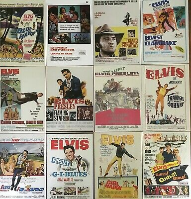 33 Elvis Presley classic movie poster images on quality postcards