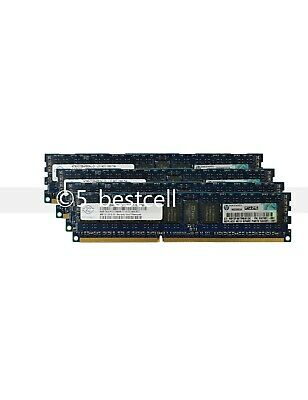32GB 4x 8GB PC3-10600R DDR3 1333 MHz 1RX4 240Pin ECC Registered RDIMM SERVER Ram