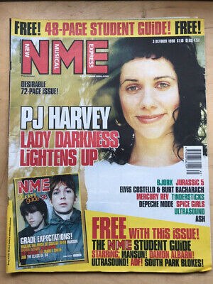 P J Harvey Nme Magazine Oct 3 1998 - Pj Harvey Cover + Feature Inside (No Free G