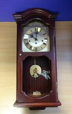 Vintage AMS Wooden Chiming Wall Clock