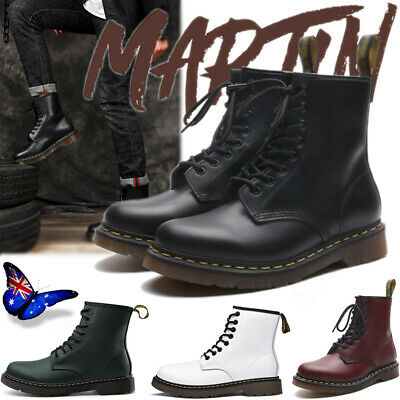 For Martens Unisex 1460 8 Lace Up Leather Boots Shoes Doc Martins Shoes 36-46