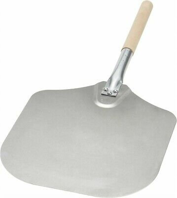Restaurant Equipment 12-Inch x 14-Inch Aluminum Pizza Peel with Wood Handle