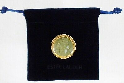 Estee Lauder Green Cameo Compact (Solid Perfume) 2006 (Empty Youth Dew/No Label)