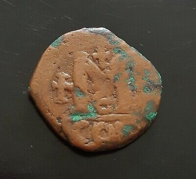 #e704# Byzantine Follis coin of Justinian I from 5582-602 AD (Constantinople)