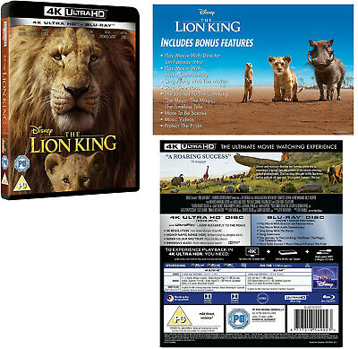 THE LION KING (2019): Live Action, Animation, Adventure - NEW RgFree 4K+BLU-RAY