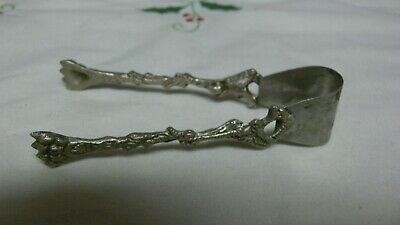 Antique Art Deco Victorian Silver Plate Italy Pickle Tongs