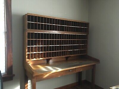 Antique Post Office Mail Sorter Desk (1936)