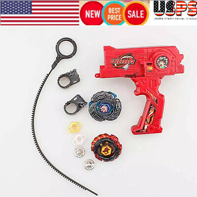 1 Set Beyblade W/ Launcher Metal Fusion Rotate Rapidity Fight Masters Toy Gift