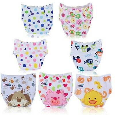 Cute Infant Kids Newborn Baby Nappy Adjustable Washable Cloth Diapers Reusable
