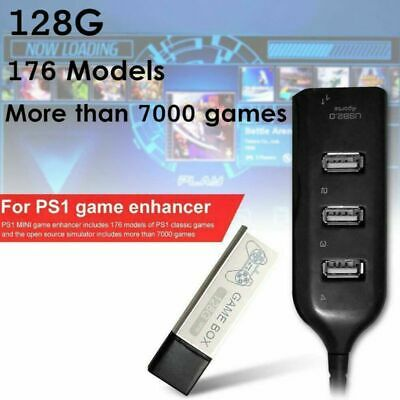 128G PS1 MINI True Blue Mini Crackhead Pack For Playstation Built-in 7000 Game