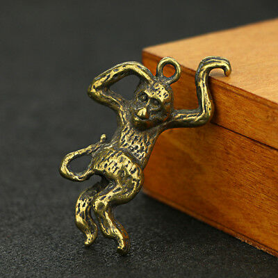 China Antique Collection Brass Monkey Pendant Accessories a290