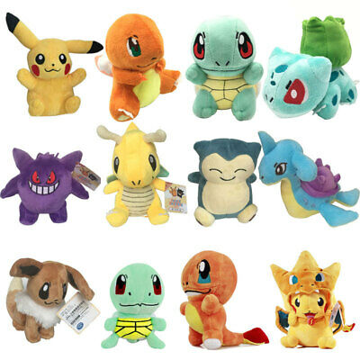 POKEMON Pikachu Bulbasaur Squirtle Charmander Plush Stuffed Doll Toy Xmax Gift