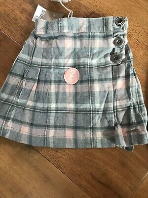 New Next Girls Winter Checked Kilt Skirt Tights Set  Age 5 - 6 Years