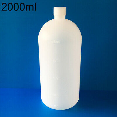 2000ml Clear Plastic Lab Seal Chemical Bottle Sample Bottle Container  Striking