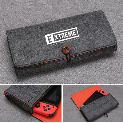 Portable Travel Bag Carrying Case Felt Pouch Storage bag for Nintendo Switch - G
