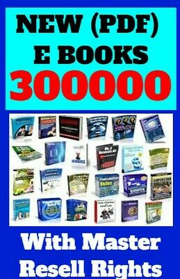 300000+ e Books Package Collection( PDF)Format With Master Resell Rights E Books
