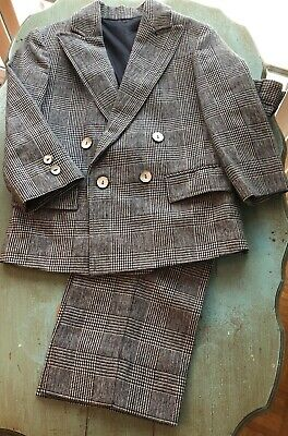 Vintage Imp Originals Sz 5 Two Piece Suit Houndstooth Checked USA Jacket Pants