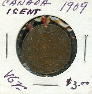 1909 Canada 1 Cent Coin Fb970