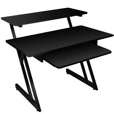 On-Stage WS7500B Wooden Studio Workstation, Black Finish