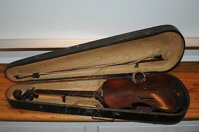 Antique Copy of Antonius Stradivarius Made In Germany GSB Coffin Case Early 1900