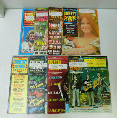 Lot of 8 Country Song Roundup Magazine 1971-1972 Dolly Parton Dottie West