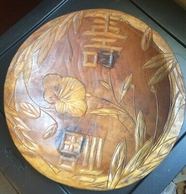 antique japanese wood carving