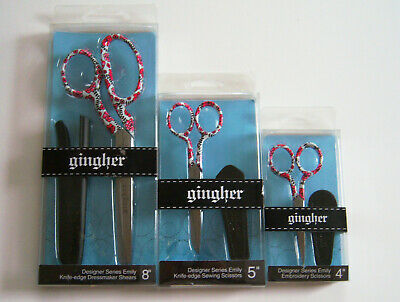 """Gingher EMILY Designer Series 4"""" or 5"""" or 8"""" Limited Edition Scissors"""