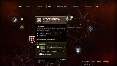 Destiny 2 - Pit of Heresy New Shadowkeep Dungeon Full Completion- (PS4)