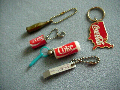 4 inch Key Ring Coke Coca-Cola Gold Bottle Key Chain New in Package NOS