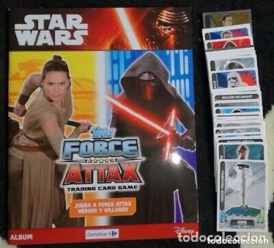 Album Star Wars: Topps Force Attax Tradding cards game - Nuevo + 100 cromos nuev