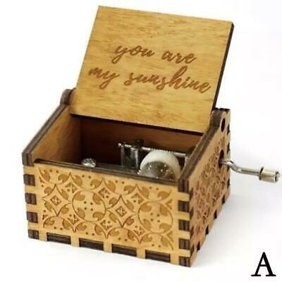 Wooden Music Box Mom/Dad To Daughter -You Are My Sunshine Engraved Toy Kid- B3K1