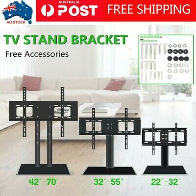"""Universal Adjustable Table TV Stand Bracket Mount Base For 22-70"""" LED LCD Screen"""
