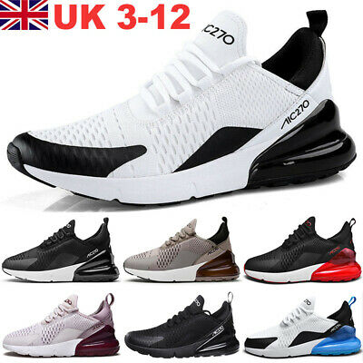 Air Max 270 AH8050 110 Mens Trainers White Blue Gym Running Shoes Size 3-12 AU