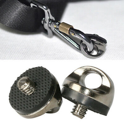 """14"""" Stainless Screw Camera Strap Tripod Mount Metal Adapter Connect Quickly"""