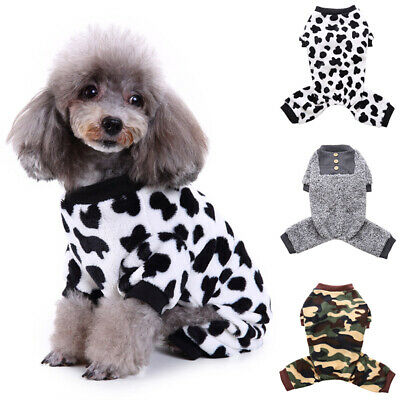 Pet Dog Cat Sweater Pajamas Jumpsuit Jumper Winter Warm Clothes Costume Apparel